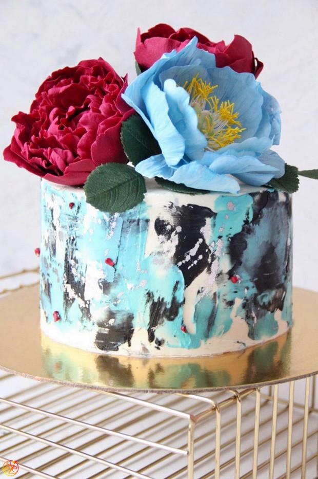 Торт детский цветочный