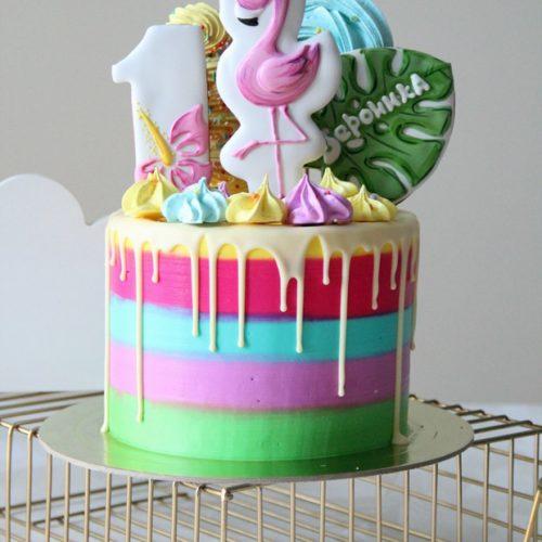 Торт flamingo