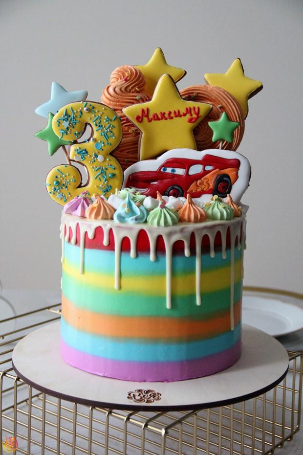 Торт детский Тачки  Торт детский Тачки