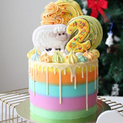 Торт детский 2 годика