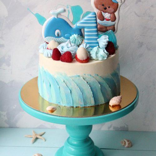Торт детский морское приключение