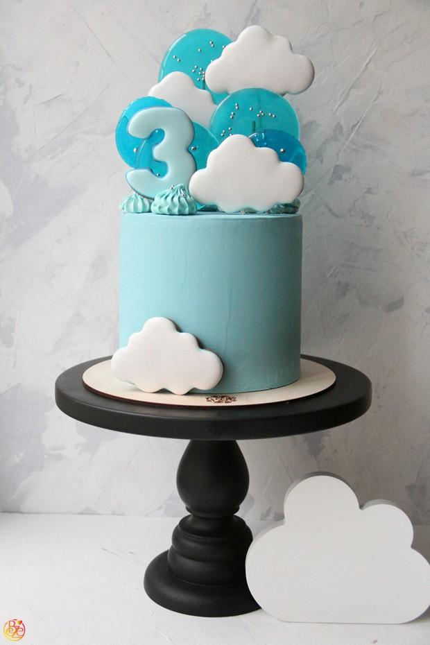Торт детский облачко
