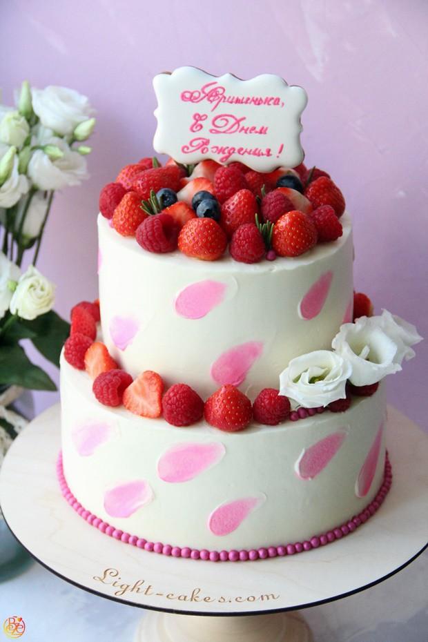 Торт Cream strawberries