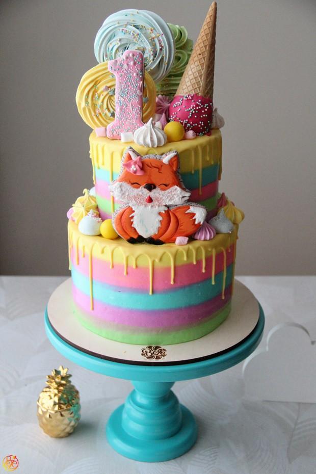 | Торт детский лисичка