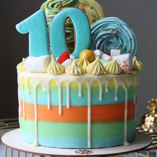 Торт детский 10 лет
