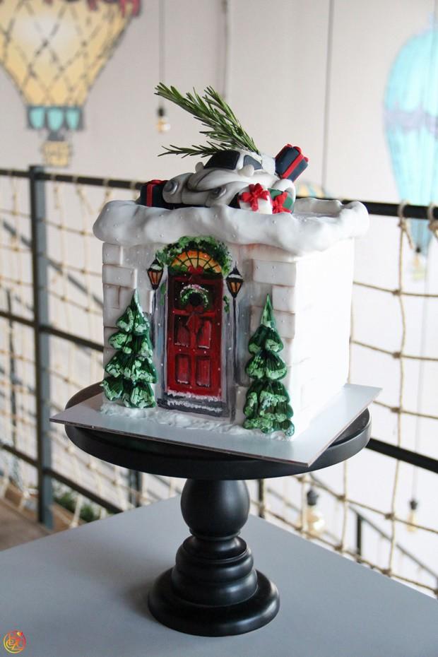 Торт Santa's House