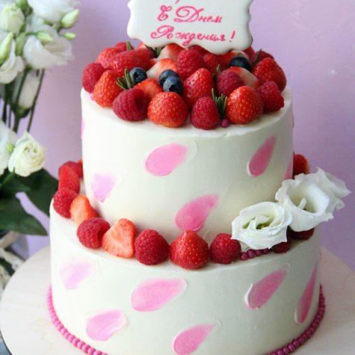 Торт без мастики на день рождения
