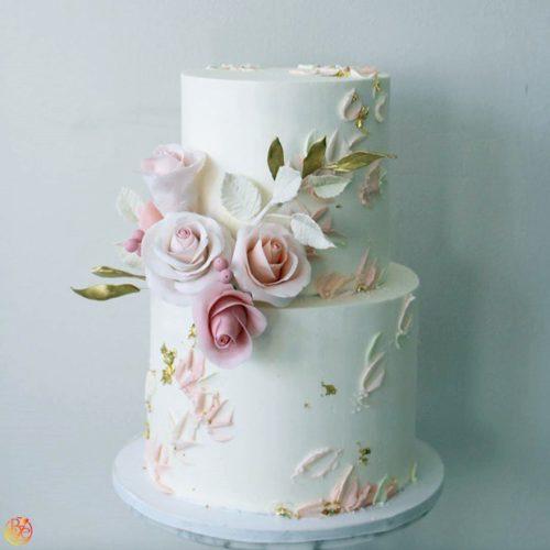 Двухъярусные свадебные торты