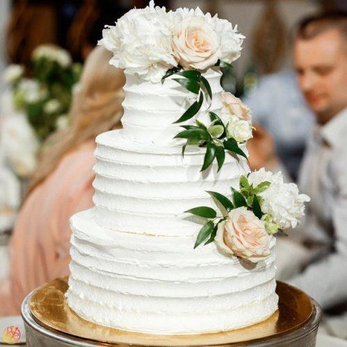 Свадебные торты из крема